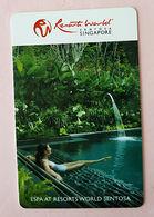 Resorts World Sentosa Singapore Hotel Spa Keycard - Hotelsleutels (kaarten)
