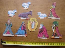 Chromo Image Bon Point RELIGION CRECHE SANTONS Figurines Diorama - Trade Cards