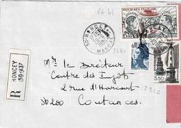 TP N°2326, 2240 Et PA 48 Sur Enveloppe En Recommandé De Roncey - 1961-....