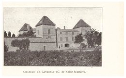 1924 - Iconographie - Caveirac (Gard) - Le Château - FRANCO DE PORT - Alte Papiere
