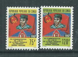 Congo  Campan° 801 / 02 XX  10ème Anniversaire De La Mort De Marien Ngouabi Les  2 Valeurs  Sans Charnière, TB - Congo - Brazzaville