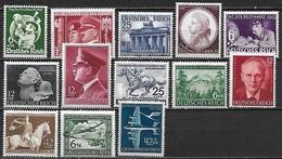 ALLEMAGNE 1941-1944 - Deutshes Reich  - Lot De 13 Bons Timbres Neufs **  MNH  Cote YT : 77 Euros - Neufs
