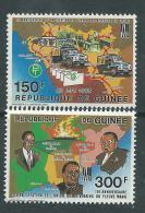 Guinée  N° 899 / 900  XX  15ème Anniversaire De L'Union De La Rivière Mano Les 2 Valeurs Sans Charnière TB - Guinée (1958-...)