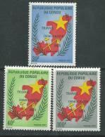 Congo N° 315 / 17  X  Travail, Démocratie, Paix, Les 3  Valeurs Trace De Charnière Sinon TB - Congo - Brazzaville