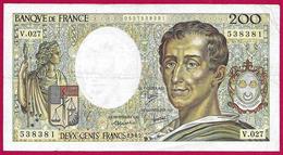 Billet De La Banque De France - Coupure De 200 Francs - Type Montesquieu - Année 1985 - 200 F 1981-1994 ''Montesquieu''
