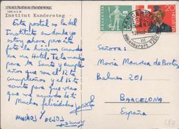 3389   Postal  Kandersteg 1965,  Höhenkurort, Estación De Montaña - Schweiz