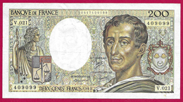 Billet De La Banque De France - Coupure De 200 Francs - Type Montesquieu - Année 1983 - 1962-1997 ''Francs''