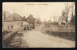 CPA Crosses ( Cher ) - Place De L'Eglise - Circulée 1939 - Autres Communes