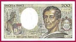 Billet De La Banque De France - Coupure De 200 Francs - Type Montesquieu - Année 1983 - 200 F 1981-1994 ''Montesquieu''