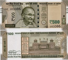 INDIA       500 Rupees       P-114       2017       UNC  [ Sign. Patel - Letter A ] - India