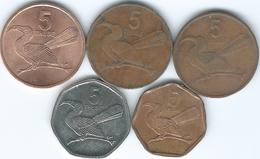 Botswana - 5 Thebe - 1981 (KM4) 1991 (KM4a.1) 1996 (KM4a.2) 1998 (KM26) & 2013 (KM31) - Botswana