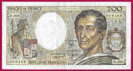 Billet De La Banque De France - Coupure De 200 Francs - Type Montesquieu - Année 1981 - 200 F 1981-1994 ''Montesquieu''