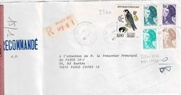 TP N°2344 Et Marianne Diverses Sur Enveloppe En Recommandé De Paris 34 - Marcophilie (Lettres)