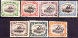 "PAPUA (BRITISH NEW GUINEA) 1909-10 SG #59-65 Compl.set Used Small ""PAPUA"" Wmk Sideways Perf.11 CV £151 - Papua New Guinea"