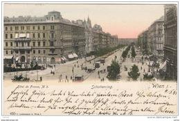 WIEN:  HOTEL  DE  FRANCE  -  SCHOTTERING  -  KLEINFORMAT  -  SUPER - Hotels & Gaststätten