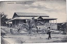 CONGO BELGE 1923 CARTE POSTALE LEOPOLDVILLE  LA MAISON DU JUGE - Congo Belge - Autres