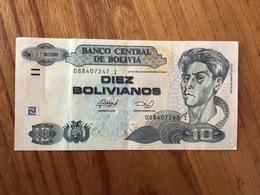 BOLIVIE 10 Bolivianos - P 228 - Ley 901 Del 28 De Noviembre 1986 - Serie I - XF - Bolivia