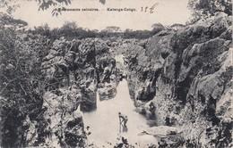 CONGO BELGE 1909 CARTE POSTALE   KATANGA AFFLEUREMENTS CALCAIRES - Congo Belge - Autres