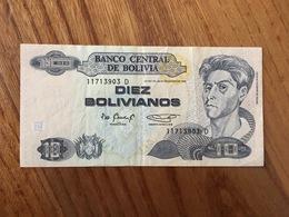 BOLIVIE 10 Bolivianos  - Ley 901 Del 28 De Noviembre 1986 - Serie D - XF - Bolivia