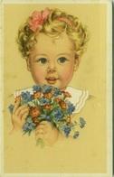 CHRISTIAN PAHL  1940s POSTCARD - GIRL & FLOWERS - N.0313/2  (BG158) - Illustrateurs & Photographes