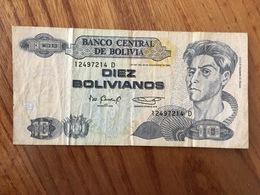 BOLIVIE 10 Bolivianos  - Ley 901 Del 28 De Noviembre 1986 - Serie D - VF - Bolivie