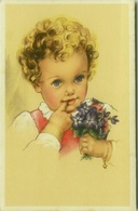 CHRISTIAN PAHL  1940s POSTCARD - GIRL & FLOWERS - N.0313/3  (BG159) - Illustrateurs & Photographes