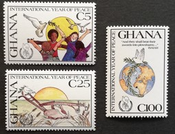 Ghana  1987 Intl. Peace Year M.N.H. - Ghana (1957-...)