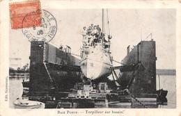 "M07934 "" BAIE PONTY-TORPILLEUR SUR BASSIN "" ANIMATA CART ORIG. SPED.1906 - Tunisia"