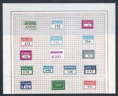 Matching Attachment Labels. Palindrome. Capicuas. Bijpassende Labels Voor Bijlagen. Palindroom. Passende Anhangetiketten - Stationeries (flat Articles)