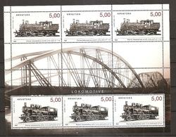Croatia 2014,upon Locomotives,train.,sheet Mnh - Trains