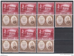 VATICANO:  1957  CAPRANICA  -  2  BASSI  VALORI  RIPETUTI  N. -  SASS. 223 + 224 - Vatican