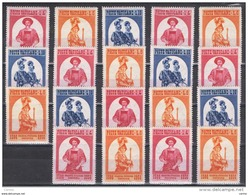 VATICANO:  1956  GUARDIA  SVIZZERA  -  3  BASSI  VALORI  RIPETUTI  N. -  SASS. 203/05 - Vatican
