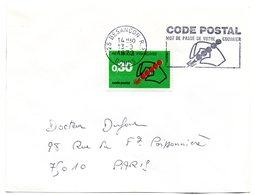DOUBS - Dépt N° 25 = BESANÇON RP 1972 = FLAMME CONCORDANTE =  SECAP Multiple ' CODE POSTAL / Mot Passe' - Code Postal