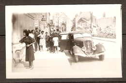 PHOTO ORIGINALE COMPIEGNE OISE (60) - PEUGEOT 401 - FRENCH OLD CAR PEUGEOT 401 - Automobili
