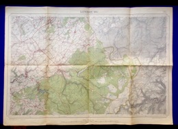 LIMBOURG Mesure 1872-1931 CARTE D ETAT-MAJOR 43 EUPEN WELKENRAEDT MONSCHAU ROTGEN MORESNET EYNATTEN WALHEIM WALHORN S400 - Limbourg