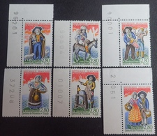 PTT/656 - 1995 - LES SANTONS DE PROVENCE - N°2976 à 2981 TIMBRES NEUFS** BdF / CdF - France