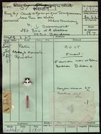 INSIGNE BOUTONNIERE ROCT TOURCOING RUGBY 1975 - FICHE FABRICANT + INSIGNE SPECIMEN - JEAN DESURMONT FONDATEUR DU CLUB - Rugby