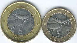 Botswana - 5 Pula - 2007 (KM30) & 2013 (KM37) - Botswana