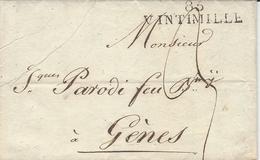 Non Daté- Lettre De 85 / VINTIMILLE   ( Alpes Maritimes ) 38 Mm Taxe 5 Puis 6 D  Pour Marseille - 1792-1815: Départements Conquis