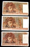 3 Billets De 10 Francs Berlioz 1976 -1977-1978 - 1962-1997 ''Francs''