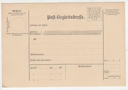 Post-Begleitadresse Unused B190401 - Storia Postale