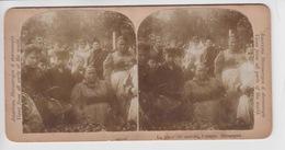 OLD PHOTO STEREO CARD -  GERMANY - KOELN - MARKET - Koeln