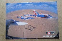 PATROUILLE DE FRANCE Survolant Le Qatar ( Avion, Aviation, Armée De L'Air ) - 1946-....: Ere Moderne