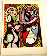 Ancient Art Print - The Young Woman In The Mirror By Picasso, 1963 - Otros