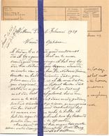 Brief Lettre - Jozef Penne  Wetteren - Naar Kadaster 1929 + Brief Met Antwoord - Alte Papiere