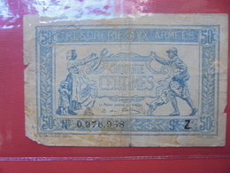 TRESORERIE AUX ARMEES 50 CENTS CIRCULER - Treasury