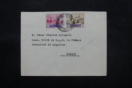 SAINT MARIN - Enveloppe Pour Le Conseiller Du Prince De Monaco En 1951 , Affranchissement Plaisant - L 27478 - Saint-Marin