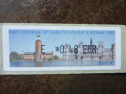 2005 LISA1 SALON D'AUTOMNE PARIS STOCKHOLM  E 0,48€  (vendue à La Valeur Faciale)  ** MNH - 1999-2009 Vignettes Illustrées