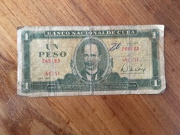 CUBA 1 Peso Nacional CUP - 1981 - VG - Cuba