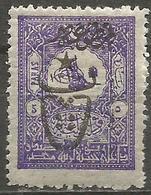Turkey - 1917 Newspaper Post Overprint 5pa  MH *    Mi 538   Sc P159 - 1858-1921 Ottoman Empire